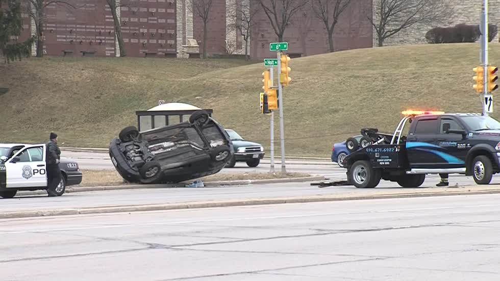 MPD investigating cause of rollover crash near 6th and Morgan
