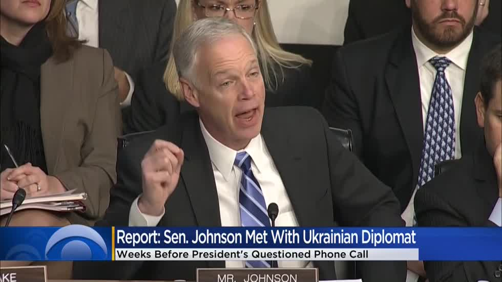 Report: Sen. Johnson meeting with Ukrainian official highlights proximity to impeachment investigation