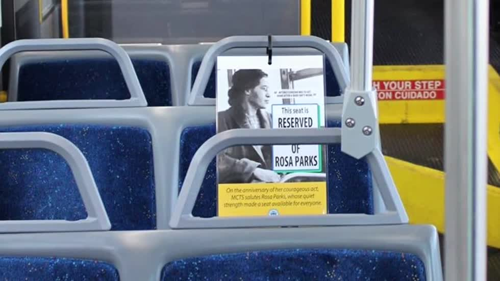 One seat on every MCTS bus being kept empty in honor of Rosa Parks