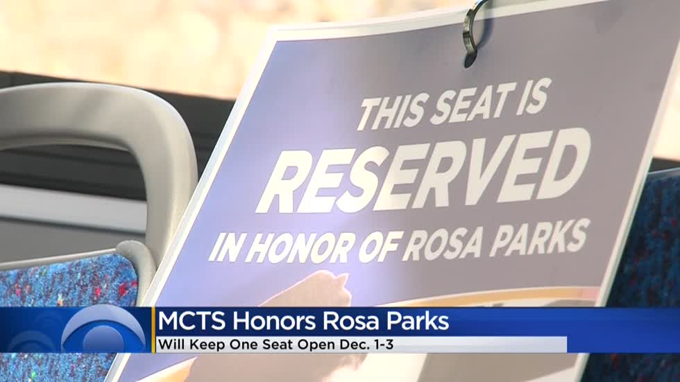 MCTS honors Rosa Parks with open seat on each bus