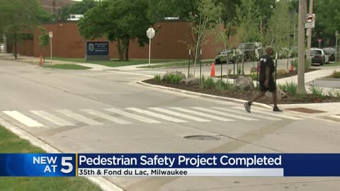 Safety walk completed in busy area near 35th and Fond du Lac...