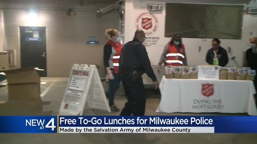 Salvation Army delivers to-go lunches to MPD in honor of National Police Week