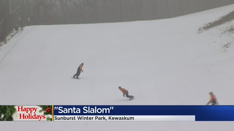'Santa Slalom:' Sunburst Park offers deals to people who dress in costume, donate food