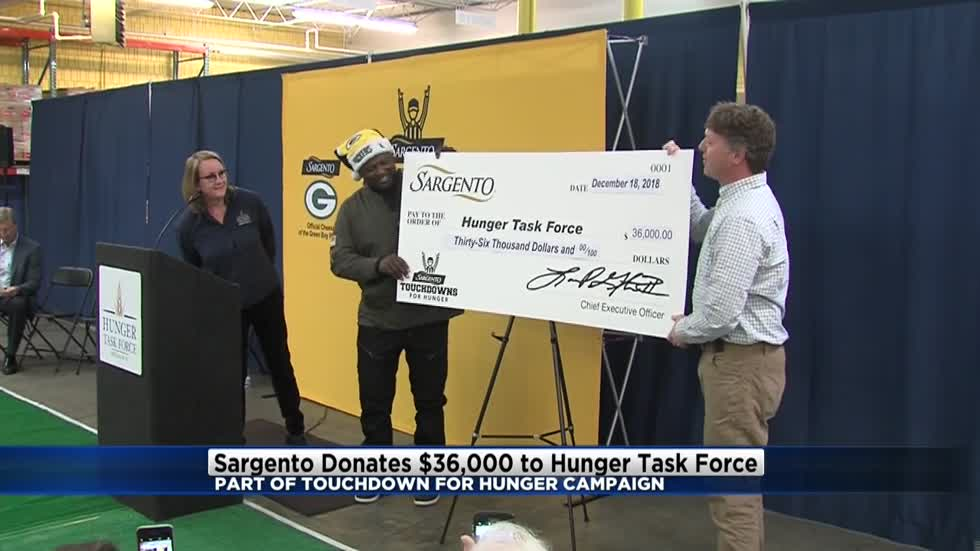Sargento donates $36,000 to Hunger Task Force as part of Touchdowns for Hunger campaign