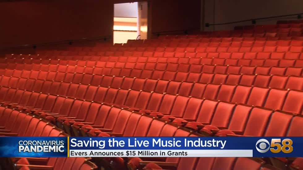 Evers announces $15 million grant for live music, entertainment...