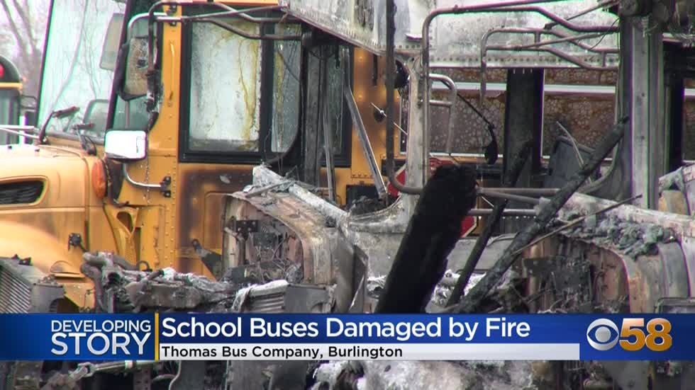 Burlington Area School District cancels classes after multiple buses damaged by fire