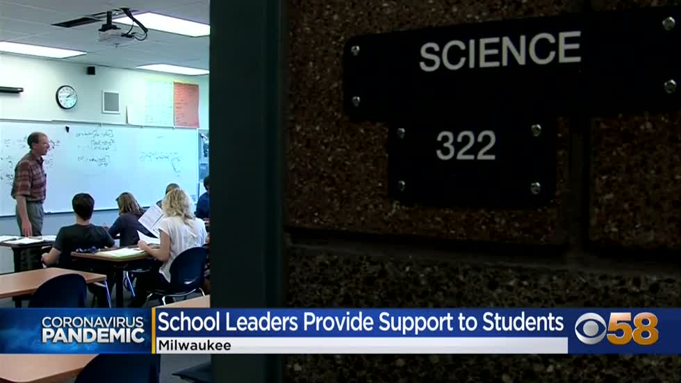 Milwaukee school leaders provide support to students during COVID-19...