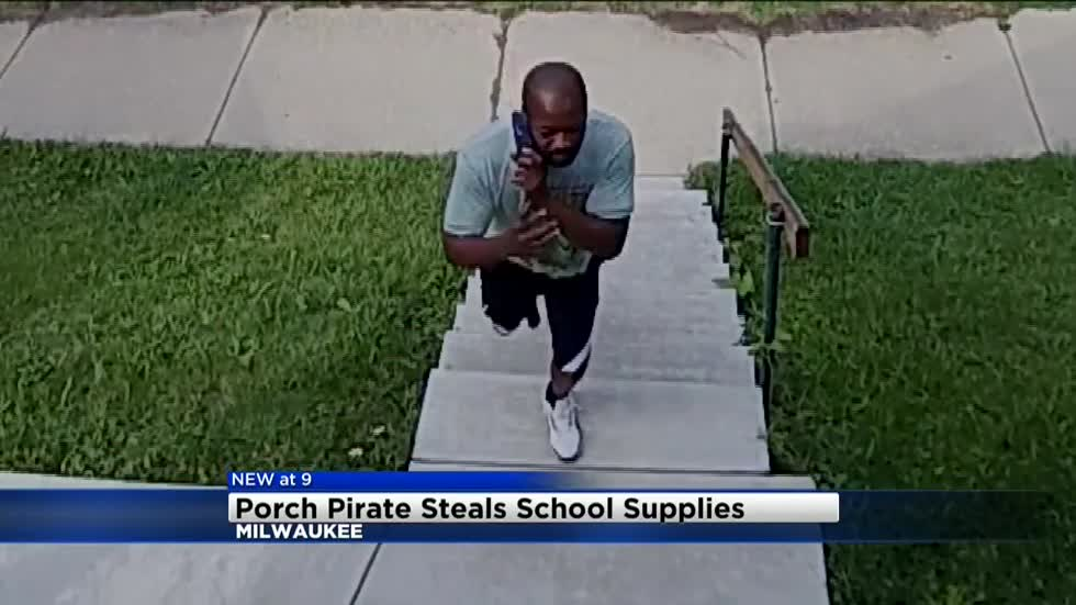 Porch Pirates caught on camera stealing $25 worth of school supplies from local teacher