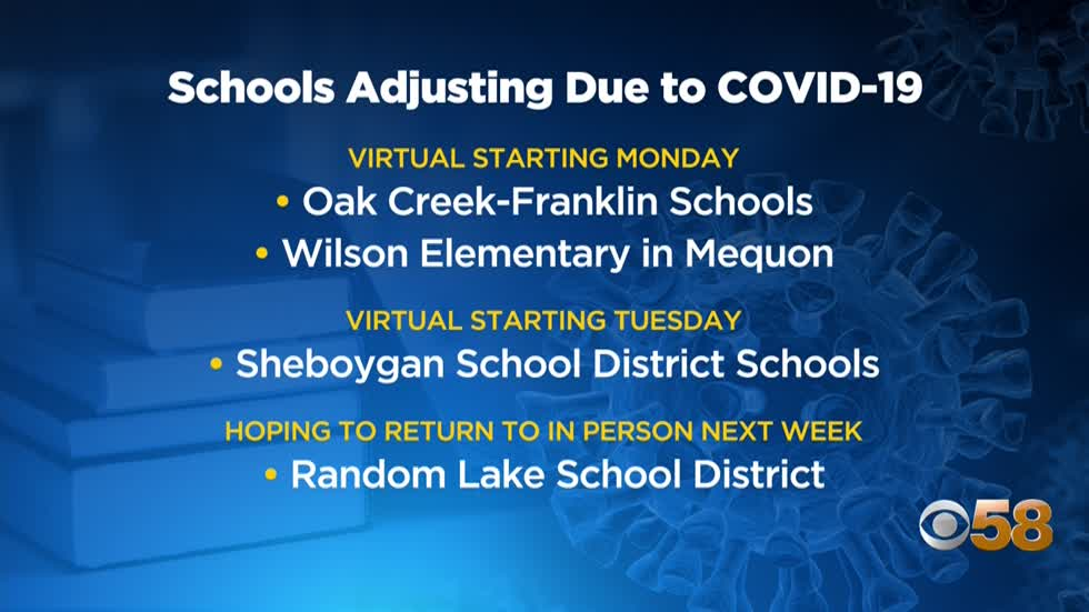 Oak Creek-Franklin, Sheboygan School Districts to return to remote...