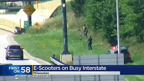 Caught on camera: Three cited for riding scooters on I-94