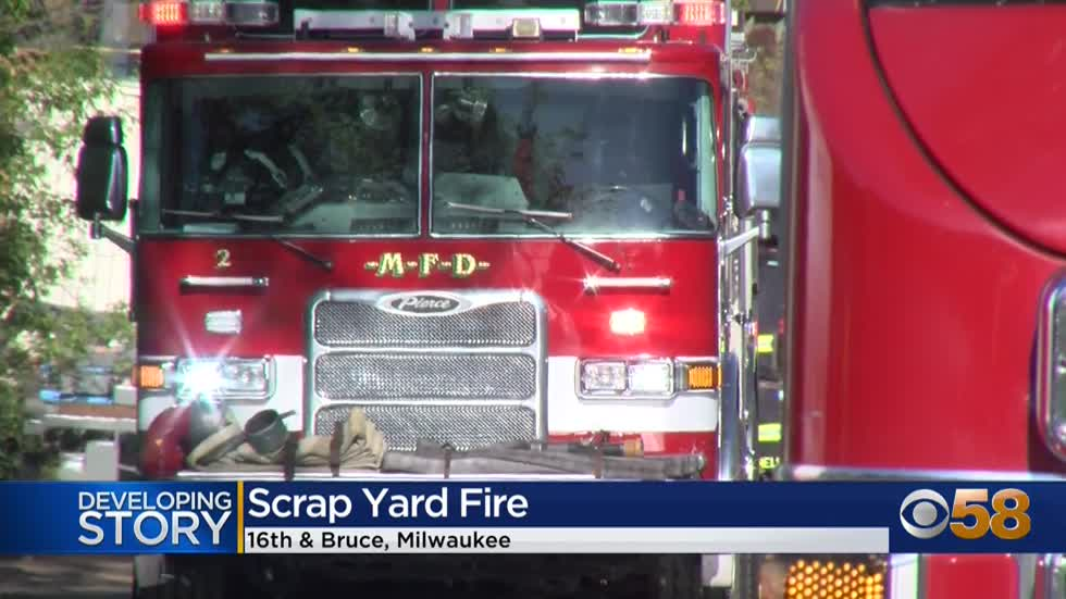 MFD investigating rubbish fire at Alter Metal Recycling