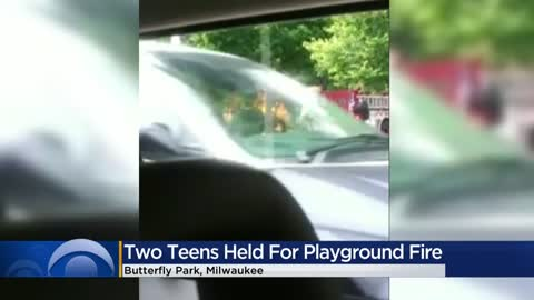 Police arrest second teen after playground fire near 37th and Meinecke