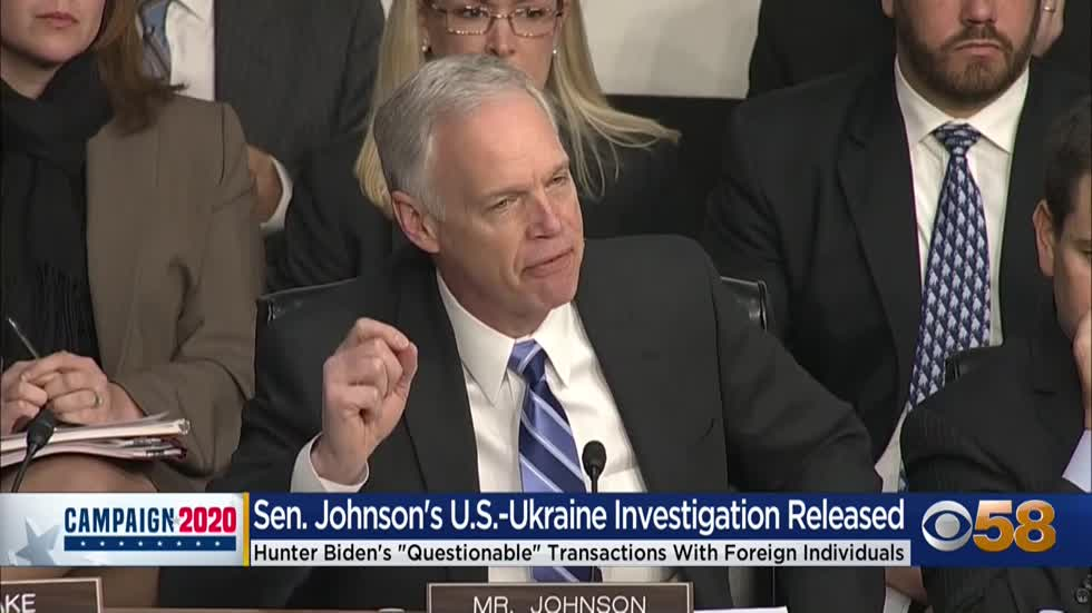 Senator Ron Johnson's US-Ukraine investigation released