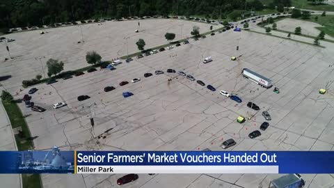 Hunger Task Force fed thousands of seniors at Miller Park Tuesday,...