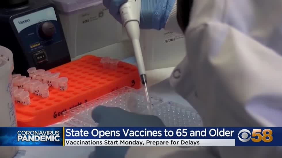 Wisconsin residents 65 and older eligible for COVID-19 vaccine beginning Jan. 25