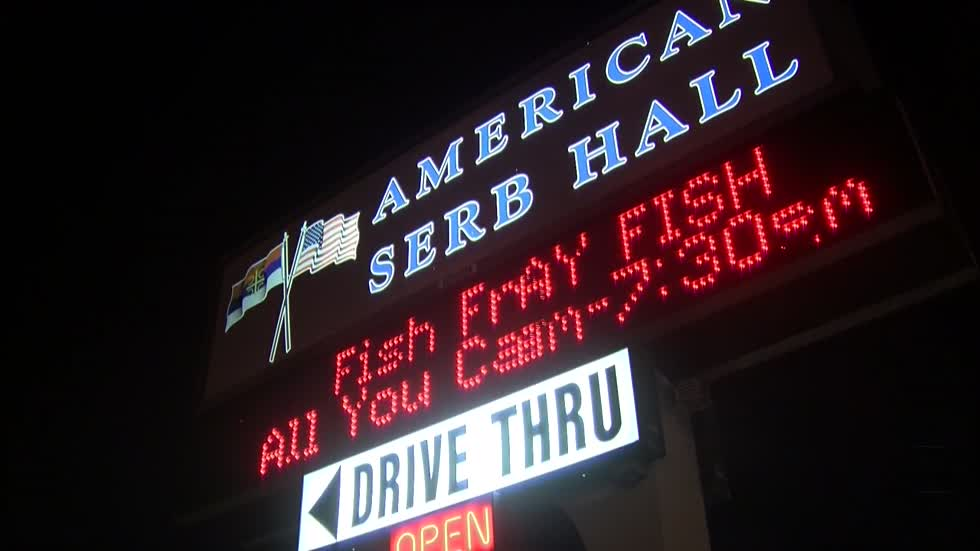 Serb Hall, drive-thru packed for first friday of Lent