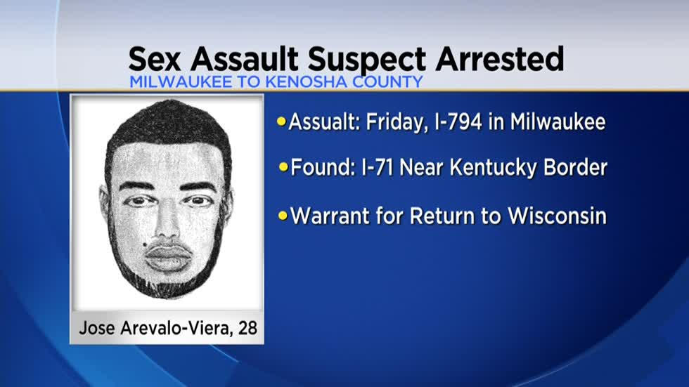 Milwaukee sex assault suspect arrested in Kentucky