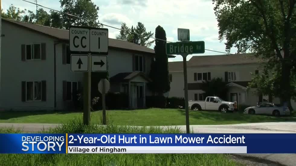 Sheboygan County Sheriff's Office: Toddler hurt in lawn mower accident