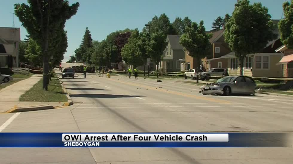 UPDATE: One arrested for OWI after multi-car crash in Sheboygan that injured three