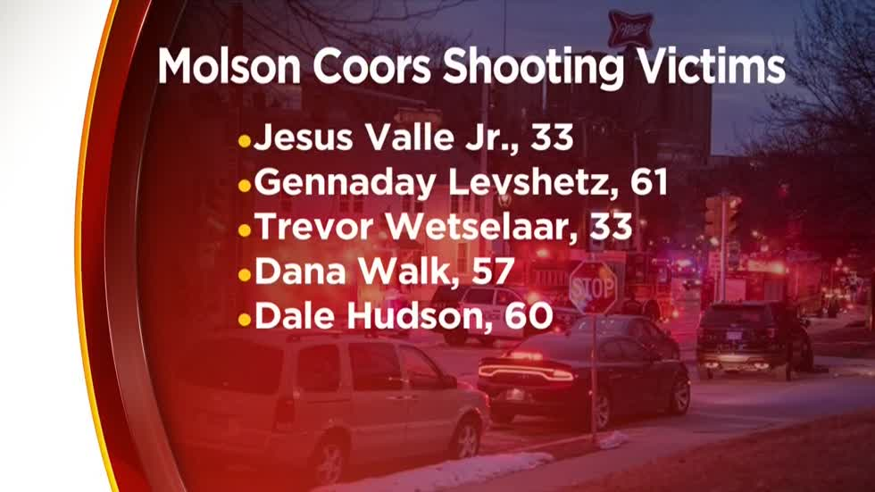 Victims, gunman identified in deadly mass shooting at Molson Coors Milwaukee campus