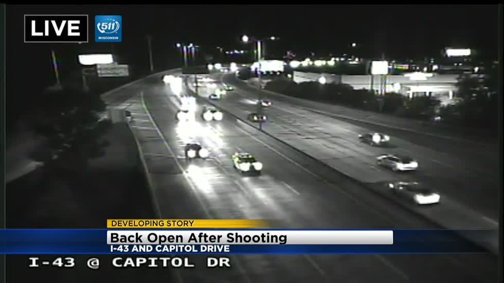 Gun shots close I-43 a second time in one week