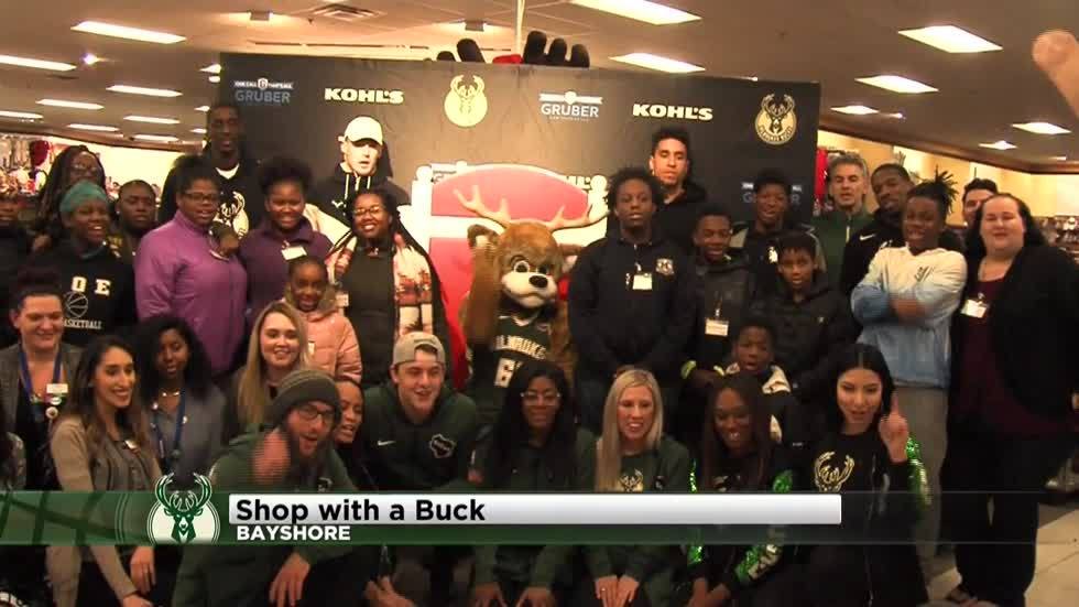 Milwaukee Bucks players take kids shopping as part of 'Shop with a Buck' event