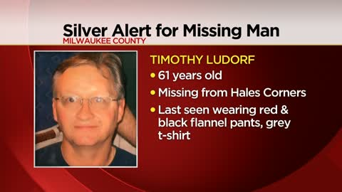 UPDATE: Silver Alert issued for 61-year-old man last seen in Hales Corners cancelled