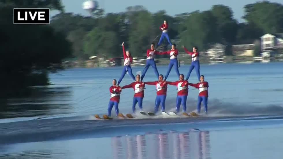 "Jump to it.  Tuesday is The ""Water Bugs"" annual holiday ski show on Little Muskego Lake"