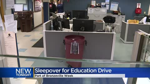 'Sleepover for Education' collecting school supplies, masks,...