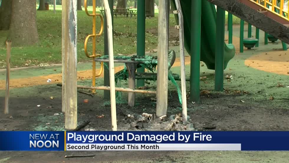 """It's just a mess:"" Mom reacts to second Milwaukee playground lit on fire this month"