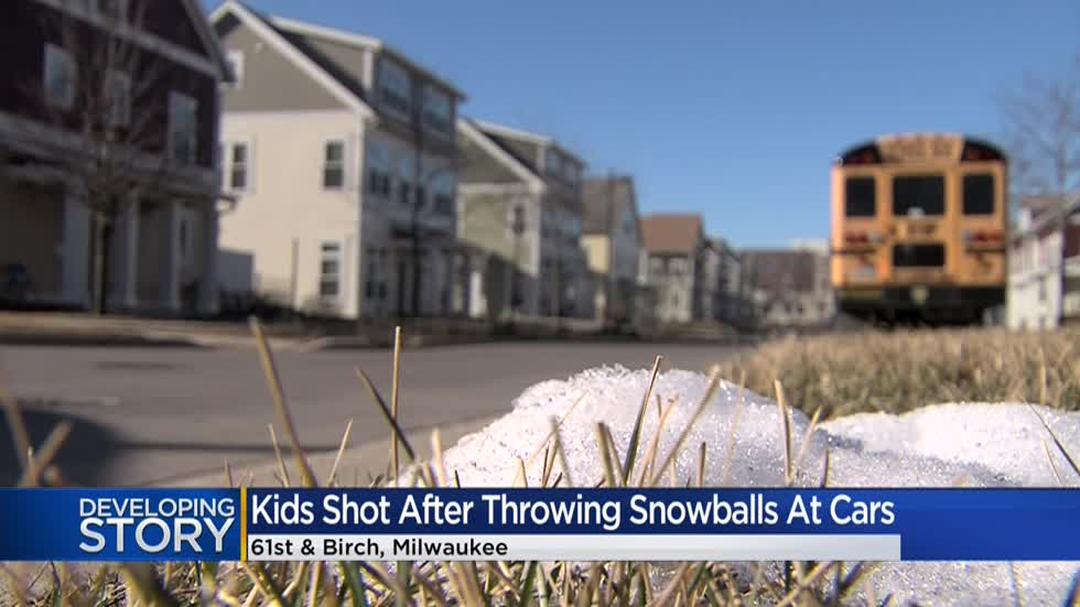 2 kids shot by driver after throwing snowballs at passing cars in Milwaukee