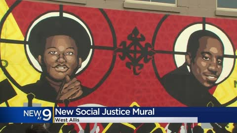 Local artists paint new, racial justice mural in West Allis