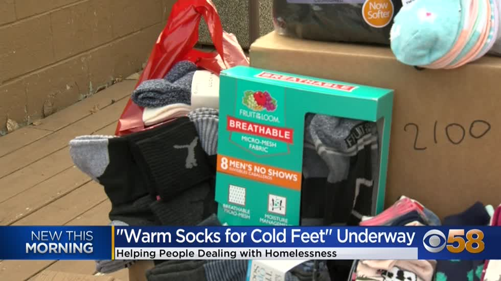 Don't get cold feet!  Donate new socks to those in need as...