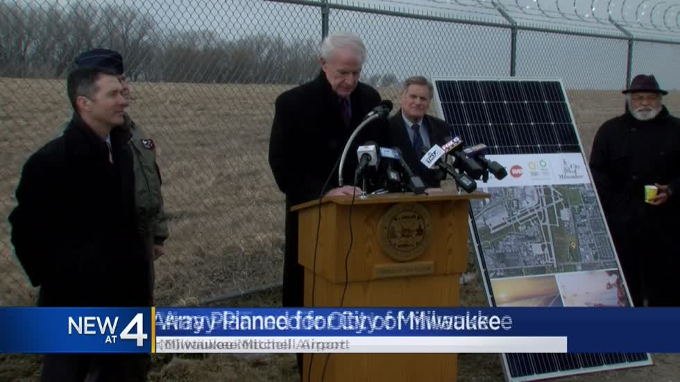 City announces plans to build largest solar energy system in Milwaukee's history