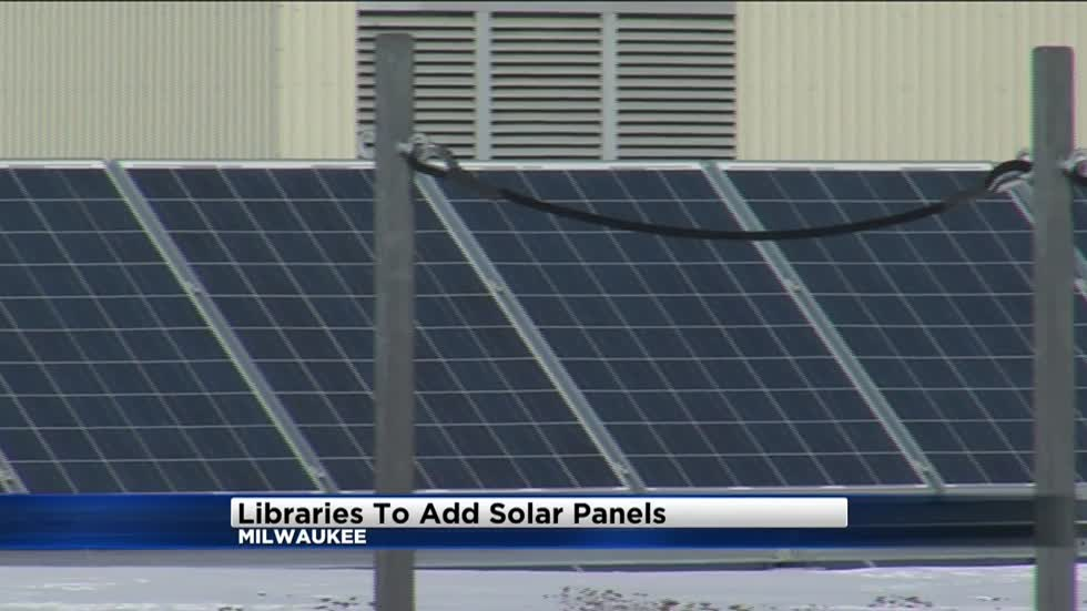Solar panels installed at Milwaukee libraries