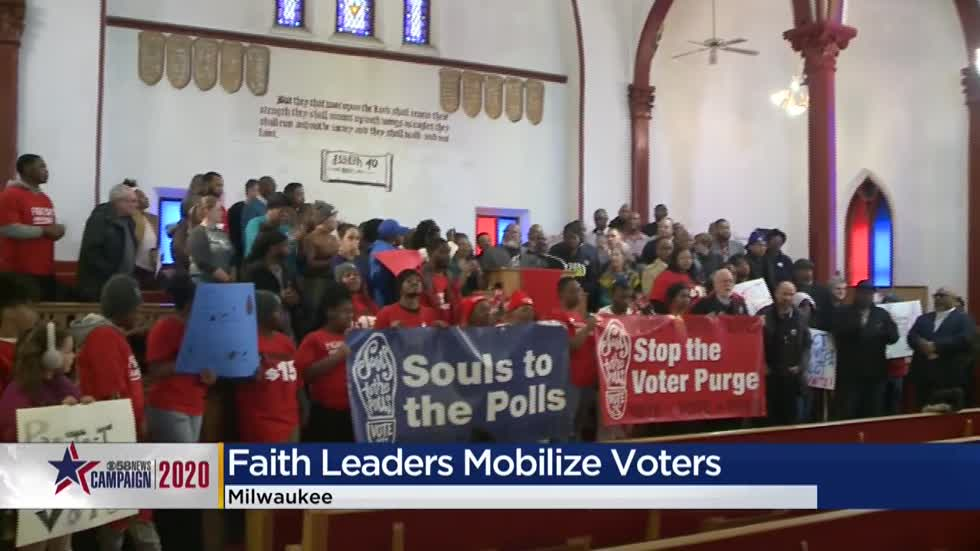 Souls to the Polls holds rally encouraging people to vote ahead of Tuesday primary