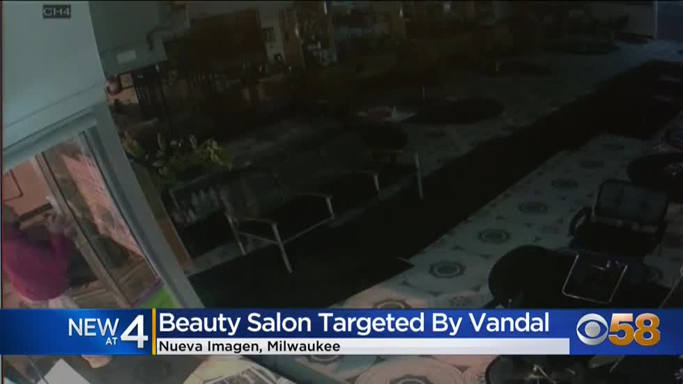 'We are afraid': Beauty salon on Milwaukee's south side targeted by vandal