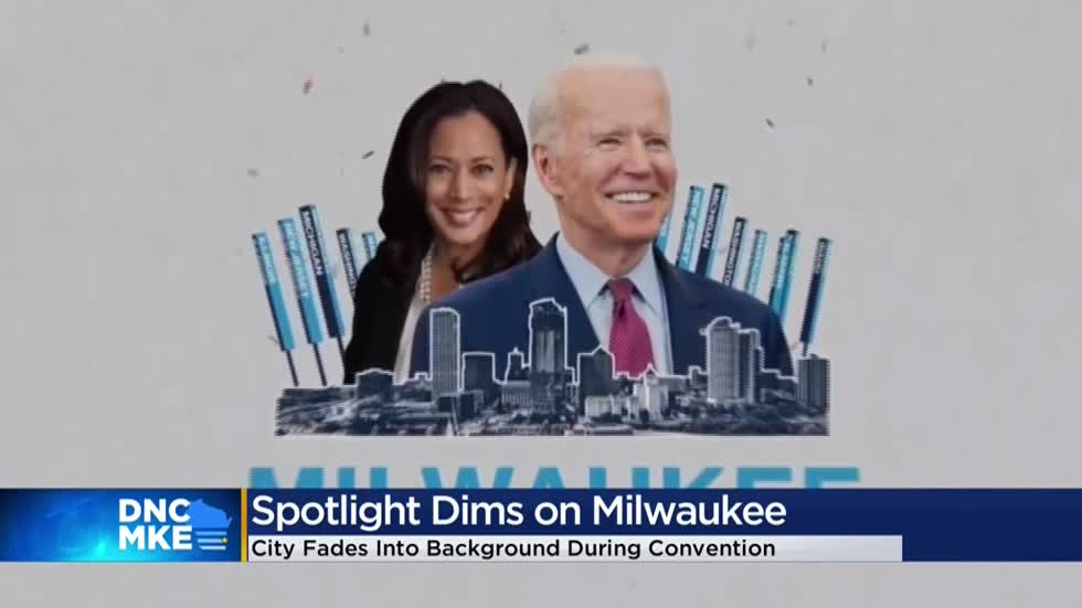 Missing from DNC: cheering crowds, massive protests, Milwaukee itself