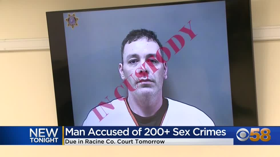 Racine County man accused of 200+ sex crimes to appear in court...