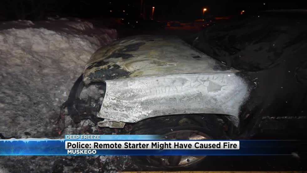 Police: Remote starter may have caused vehicle fire in Muskego