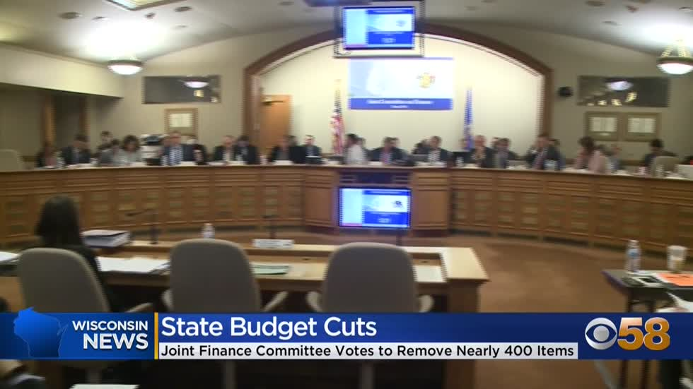 GOP-led budget committee removes nearly 400 items from Gov. Evers'...