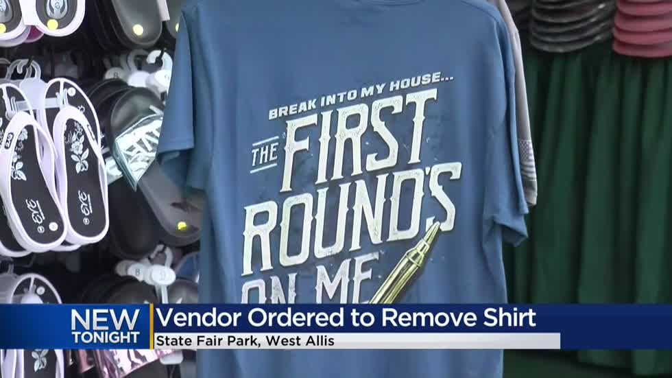 Vendor ordered to remove controversial shirt for sale at State Fair Park
