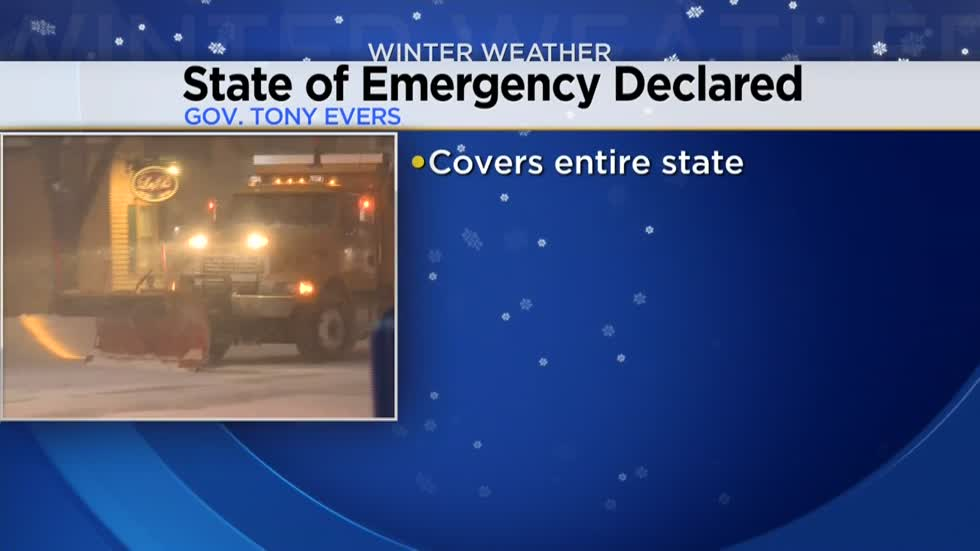 Governor Evers declares State of Emergency due to winter storm