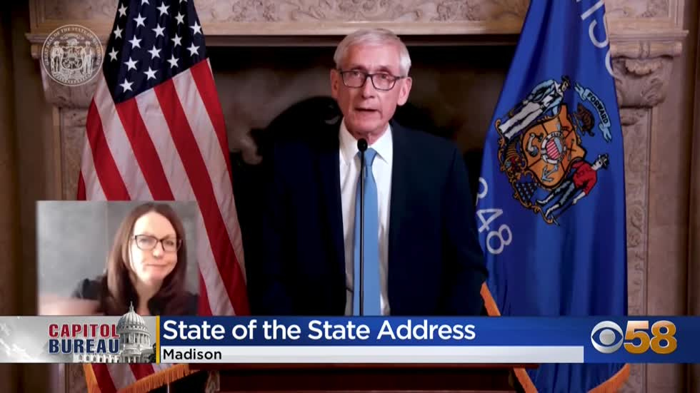 Gov. Evers holds first-ever virtual State of the State address
