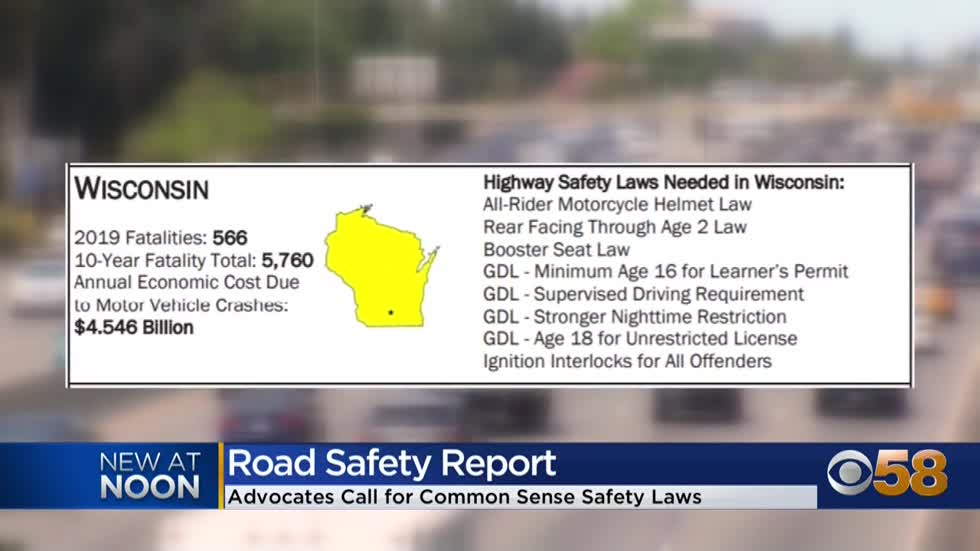 'Implement proven solutions': National alliance releases road safety report, calls for Wisconsin improvements