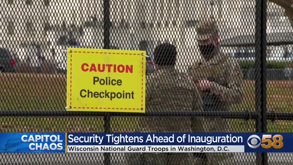 As National Guard members are vetted ahead of inauguration, Wisconsin...