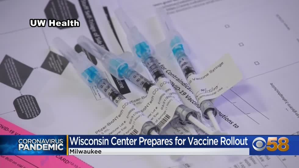 Milwaukee to receive hundreds of vaccine doses; Wisconsin Center to open as distribution hub