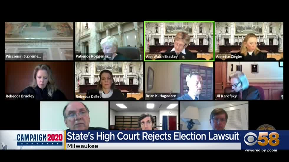 Wisconsin Supreme Court rejects Trump lawsuit to toss out 220K votes in Milwaukee and Dane Counties