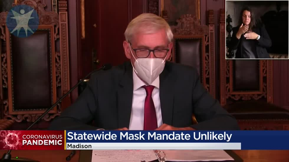 Evers: Statewide mask mandate unlikely