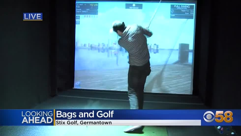 Swing needs some help?  Improve your golf game indoors at Germantown's Stix Golf